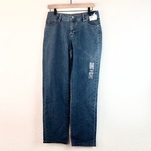 Basic Editions sz4 Jeans Blue Mom Straight Leg